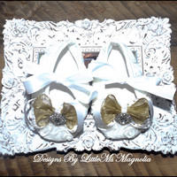"""Ballet Flats Crib Shoes """"Fanciful""""  Baby Shoes Toddler Girl Shoes"""