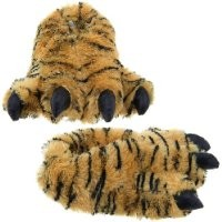 Wishpets Medium Brown Tiger Paw Slippers
