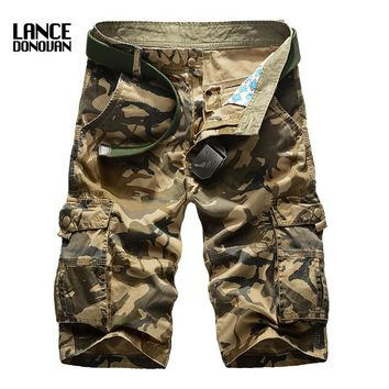 Plus size 29-42 44 Good Quality New 2016 Summer Men Camouflage Cargo Shorts Loose Overalls Military Shorts
