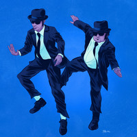 Blues Brothers Art Print by Dave Collinson | Society6