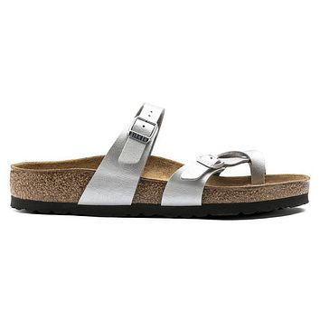 Birkenstock Mayari Birko Flor Graceful Silver 1009608/1009609 Sandals - Ready Stock