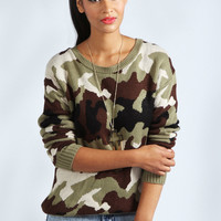 Tilly Camouflage Knit Jumper
