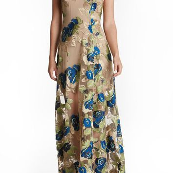 Dress the Population 'Florence' Embroidered Woven Gown | Nordstrom
