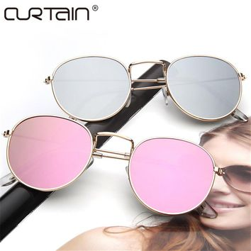 2017 retro round sunglasses women men brand designer sun Glasses for women's Alloy mirror sunglasses lentes female oculos de sol