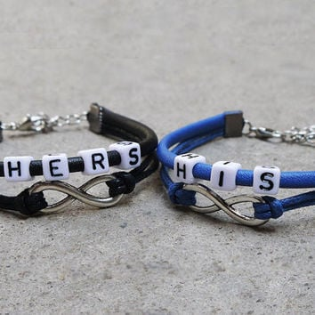 lovers bracelet,His and Hers bracelet, Set of 2,Boyfriend girlfriend jewelry,Anniversary gifts,best gift idea