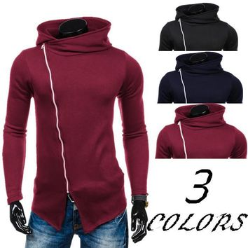 Zippers Hats Winter Men Stylish Strong Character Men's Fashion Hoodies [10669399235]