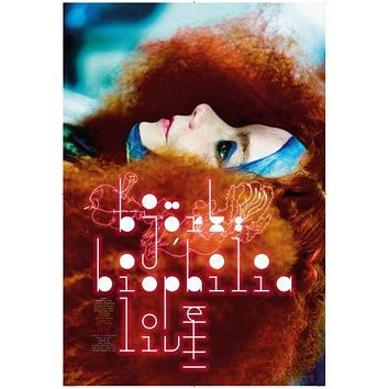 Bjork poster Metal Sign Wall Art 8in x 12in