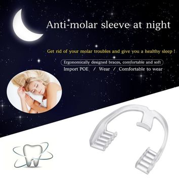 Improve Sleep Nighttime Molar Teeth Protect Braces Dental Mouth Guard Stop Grinding Teeth Bruxism Eliminate Braces