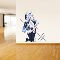 Full Color Wall Decal Mural Sticker Decor Art Poster Gift Anime Manga Girl Weapons Gun Sword Naruto Piece Comics (col362)