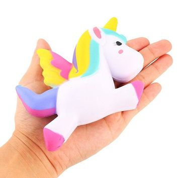 13.5CM Simulation Flying Unicorn Pony Horse Squishy Toys Slow Rising Squeeze Doll Fun Jokes Props Pranks Maker Trick Gift P15