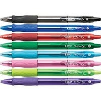 BIC® Velocity® Retractable Ballpoint Pens, Bold Point, Assorted, 8/Pack