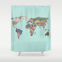 Louis Armstrong told us so Shower Curtain by Bianca Green