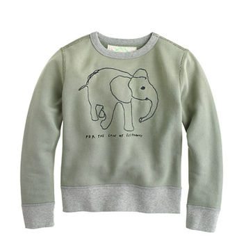 Boys crewcuts For David Sheldrick Wildlife Trust Elephant Sweatshirt