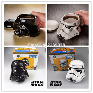 Star Wars Black White Darth Vader Ceramic Coffee Cup creative 3D Porcelain mug and Drink Tea Cup personality for friend gift