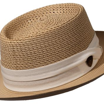 8aa039d60685b Levine Hat Co.  39.95. Bishop Milan Straw Pork Pie by Dobbs