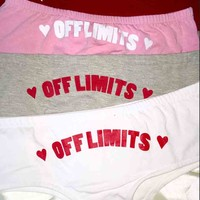 SWEET LORD O'MIGHTY! OFF LIMITS PANTY SET OF 4