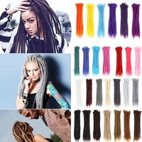 Fashion Synthetic Ombre Gradient Crochet Braiding Hair Braids Wig Hairpiece