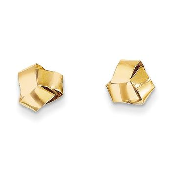 Love Knot Band Post Earrings in 14k Yellow Gold