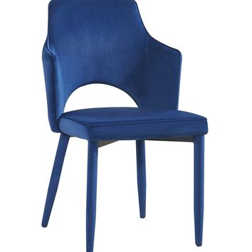 Aquila Navy Velvet Chair