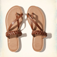 Braided Leather Slides