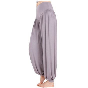 Yoga Pants Women High Waist Athletic Harem Pant Baggy Bloom Pants Fashion Lantern Lady Casual Loose Trousers Plus Size