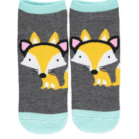 Fox-Patterned Ankle Socks | Forever 21 - 2000142769