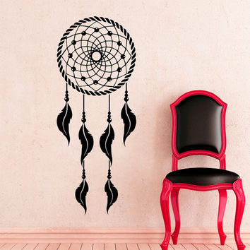 Dream Catcher Wall Decals Indian Amulet Art Design Feathers Home Interior Vinyl Decal Sticker Dorm Decal Mural Bedroom Wall Decor MR392