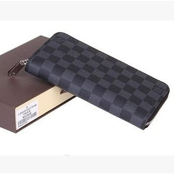 LOUIS VUITTON MEN'S WOMEN WALLET ZIPPER PURSE BAG BAGS