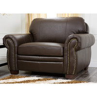 Abbyson Living Signature Italian Leather Oversized Chair