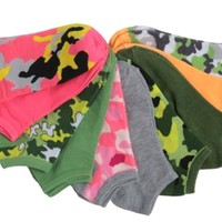 women's solid & camo print no show socks 10-pack size 9-11 Case of 36