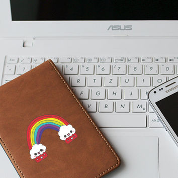 """Cupcake Kawaii Rainbow Die Cut Sticker // Cute Japanese // Cell Phone & Tablet Small Size // 3"""" // Perfect For Indoor, Outdoor, Laptop, Car"""