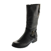 Naturalizer Womens Balada Faux Leather Mid-Calf Riding Boots
