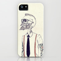 The Gentleman becomes a Hipster  iPhone & iPod Case by Mike Koubou