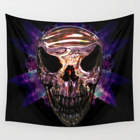Pirate skull Wall Tapestry by Knm Designs