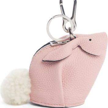 Loewe Bunny Bag Charm with Genuine Shearling | Nordstrom