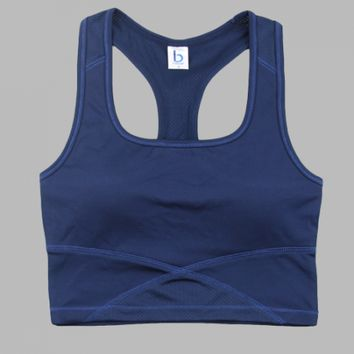 Cropped Middle Length Tank Tops.  Sports or Fashion. Navy