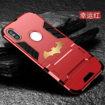 Batman Dark Knight gift Christmas Luxury Batman Case For iPhone X 7 8 Case Coque Matt Hard PC Phone Back Cover For iPhone 5 6 6S Plus 8 8 Plus Case Capa Fundas AT_71_6