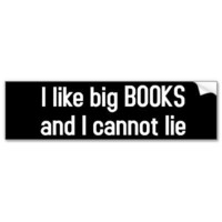 I like big BOOKS Bumper Stickers from Zazzle.com
