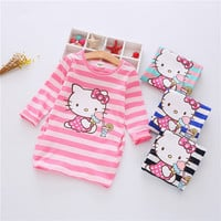 Girls Dress Hello Kitty Cartoon Kids Dresses For Girl Clothes 2-7Y Children Vestidos Costume Roupas Infantis Menina