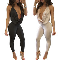 Pants Sleeveless Backless Sexy Slim Women's Fashion One-piece [10203225799]