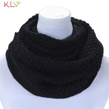 Best Price Women Winter Warm Infinity 2 Circle Cable Knit Cowl Neck Long Scarf Shawl