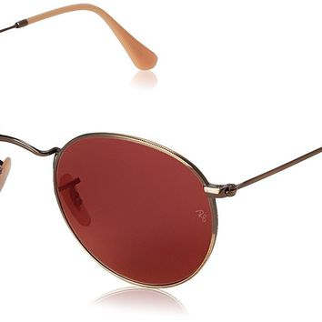 Ray-Ban 0RB3447 Square Sunglasses in Brushed Bronze with Red Mirror Lenses