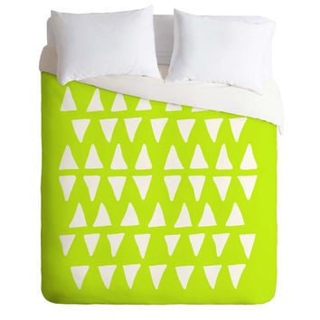Leah Flores Pineapple Dreams Duvet Cover
