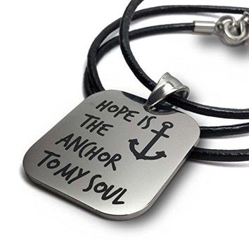 SHIP BY USPS: Hope Is the Anchor to My Soul Pendant