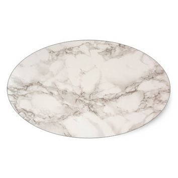 Marble Stone Oval Sticker