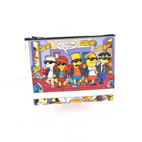 Cute Small White Clutch Bag, Fun Bart Simpson Purse, The Simpsons Comic Book Handbag, Unique Women's Wallet, Nerdy Girlfriend Gifts For Her