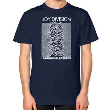 Joy Division Unknown Pleasures Unisex T-Shirt (on man)