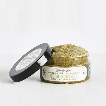 Cool, Calm, and Cleansed Body Scrub in Green Tea | Mod Retro Vintage Cosmetics | ModCloth.com