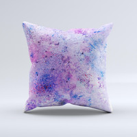 The Blotted Pink and Purple Texture ink-Fuzed Decorative Throw Pillow
