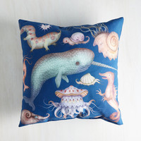 Nautical Creatures of the Whim-sea Pillow by ModCloth